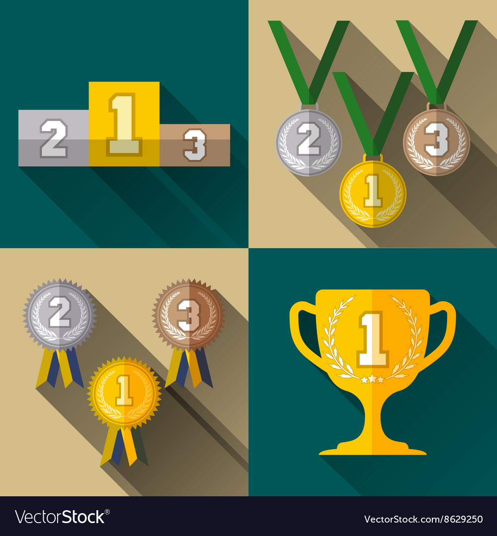 Sport winner signs vector image