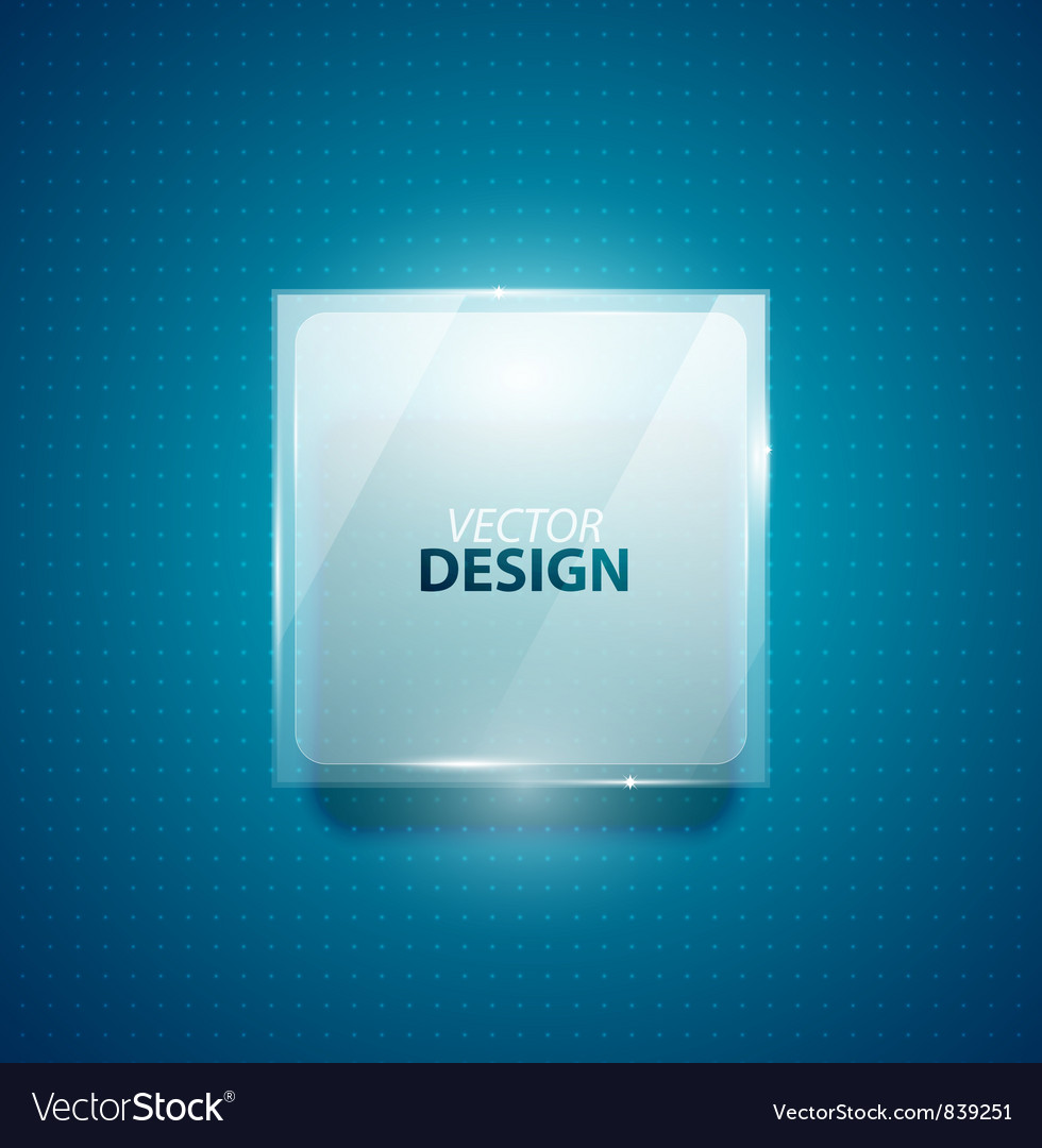 Glass square banner vector image