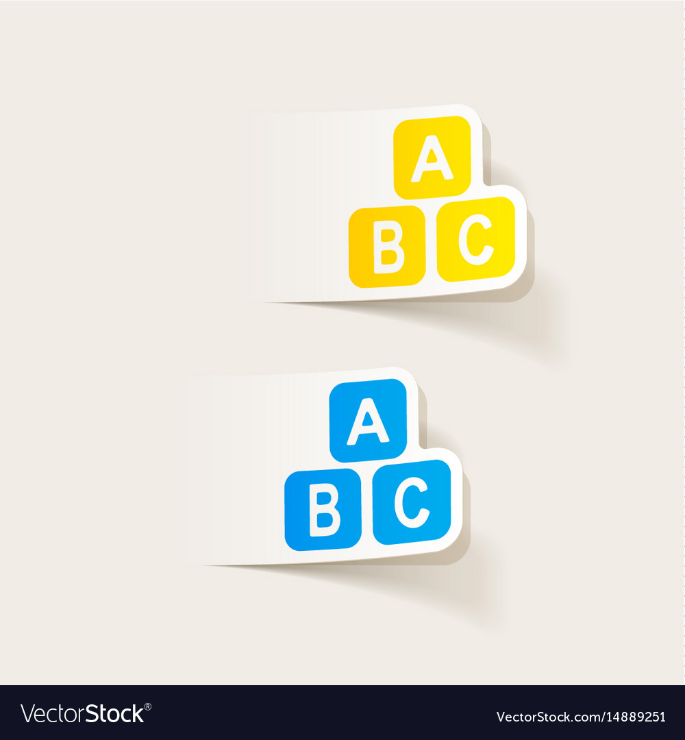 Realistic design element toy cube vector image