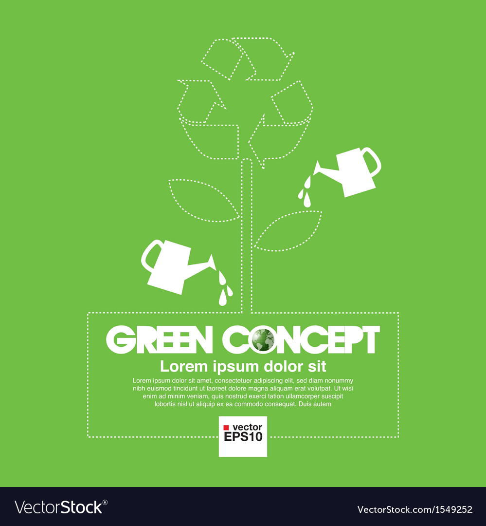 Ecology concept background vector image