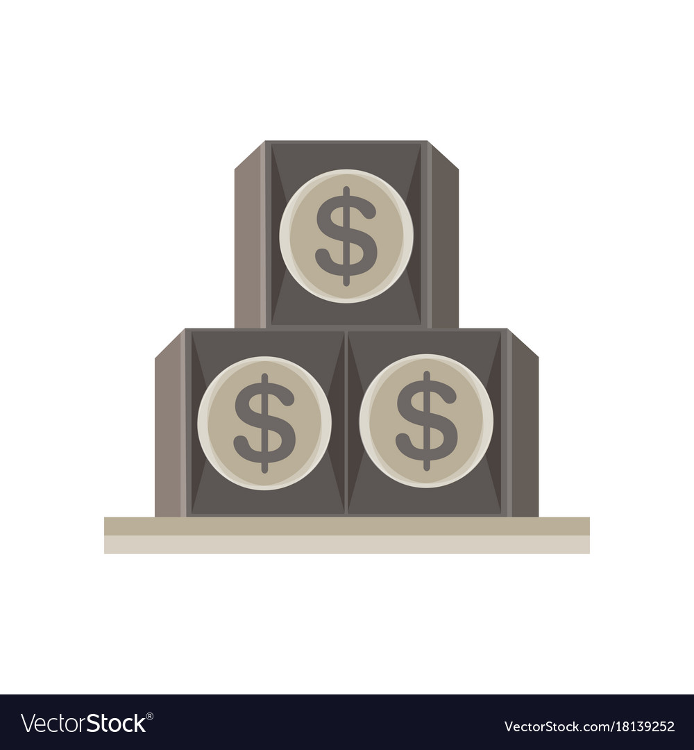 Eye pyramid dollar seeing all illuminati symbol vector image