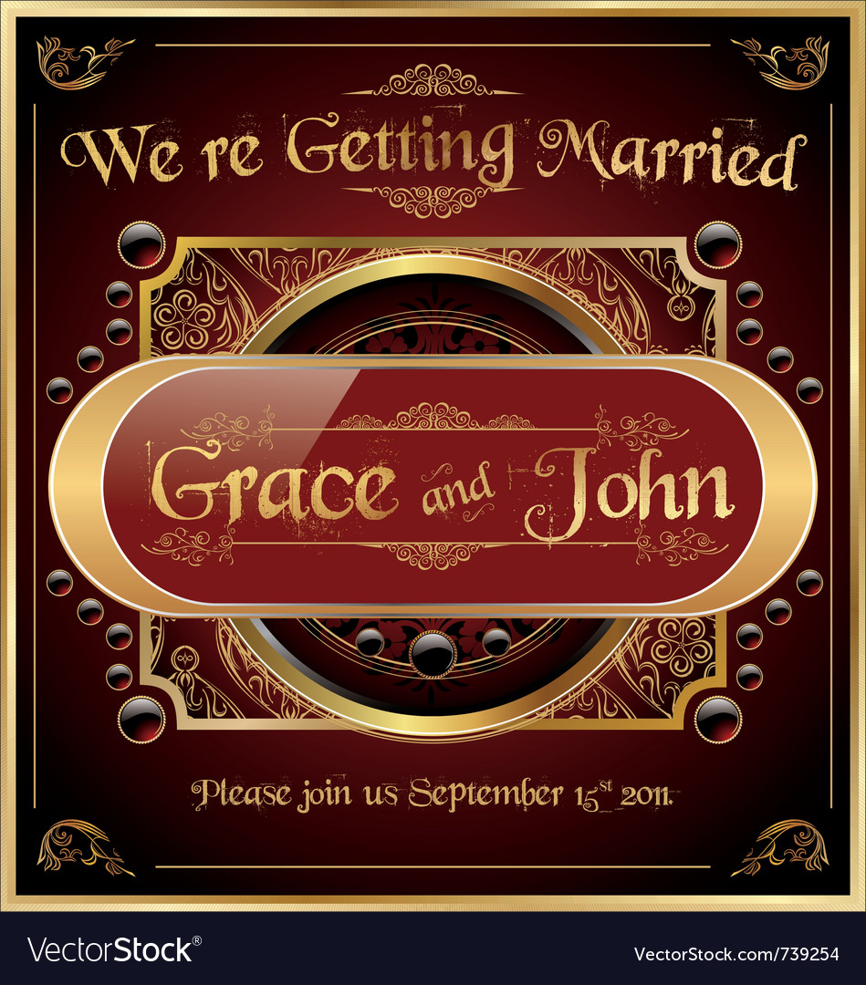 Invitations or announcements elegant frame vector image