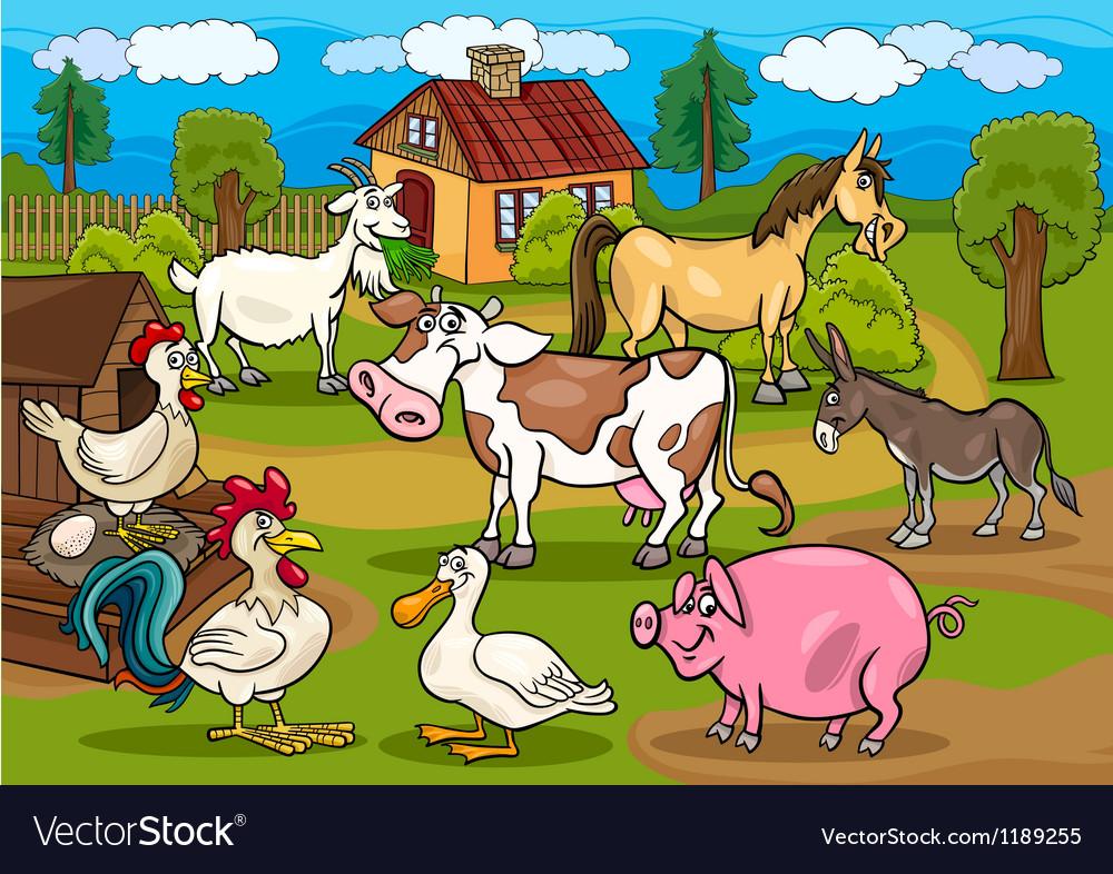Next farm animals m vector image