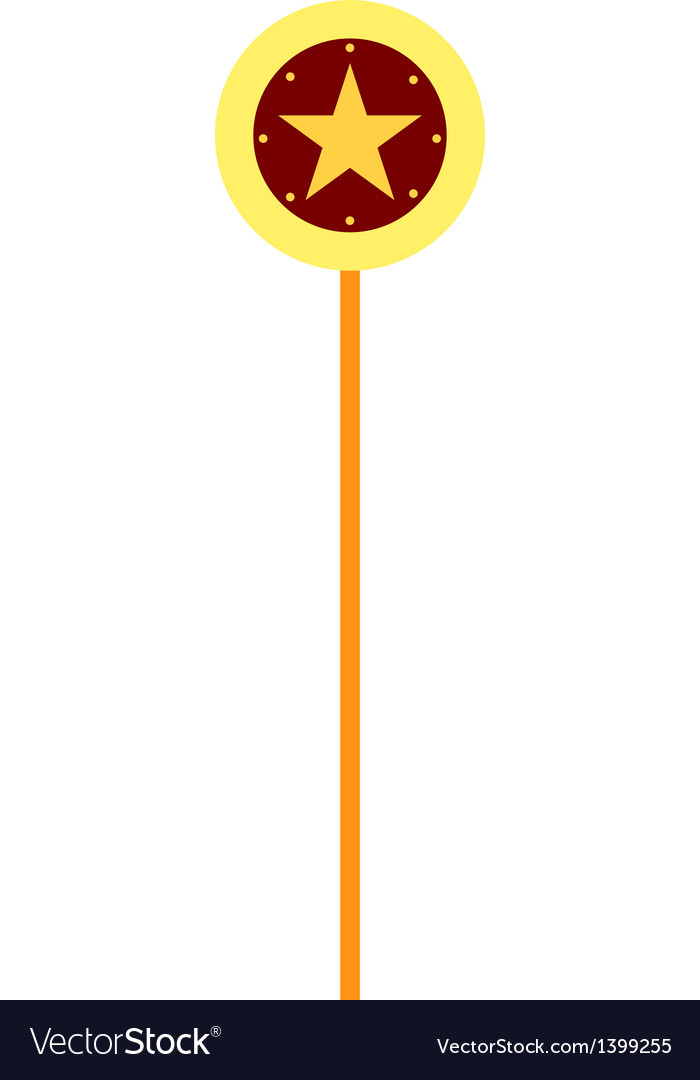 Star lollipop Vector Image