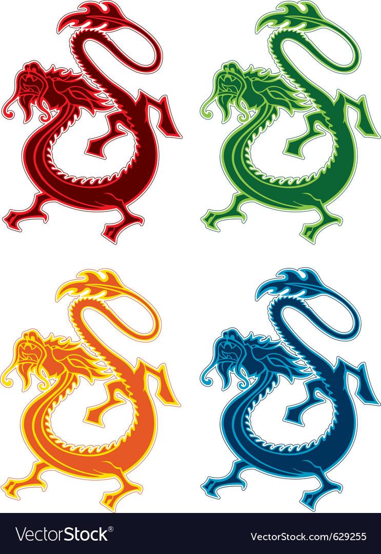 Eastern dragon design element vector image