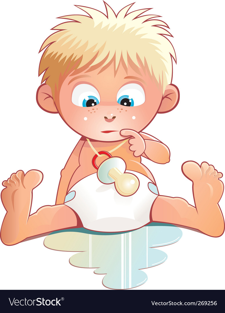 Cute baby vector image