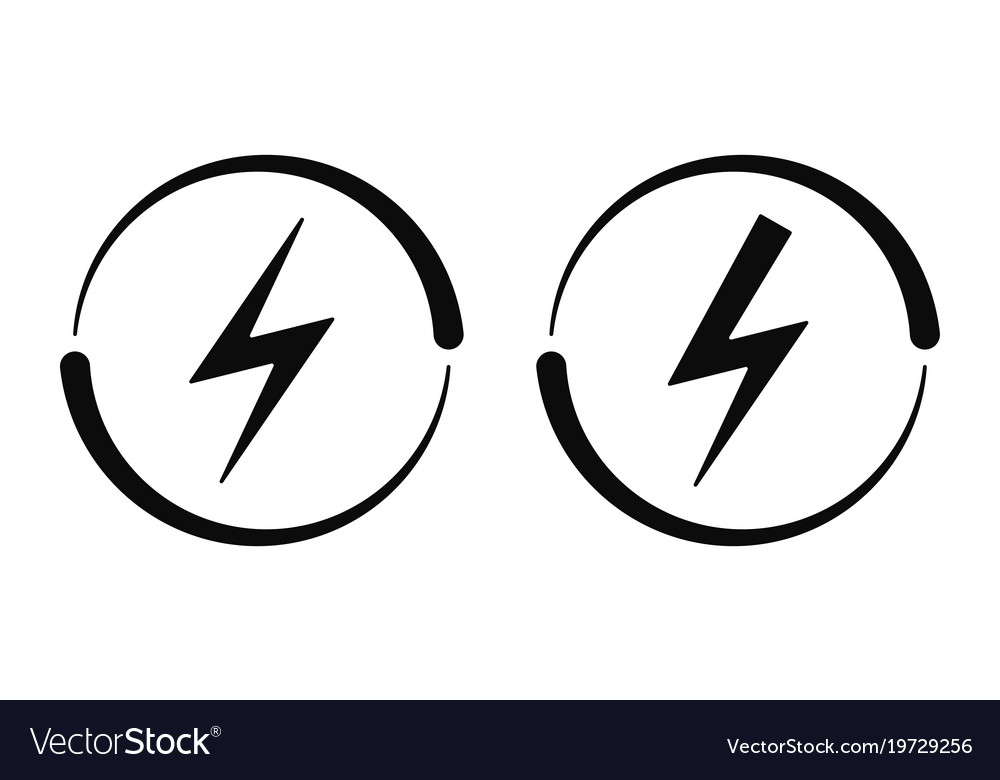 Electrical signs icon Royalty Free Vector Image