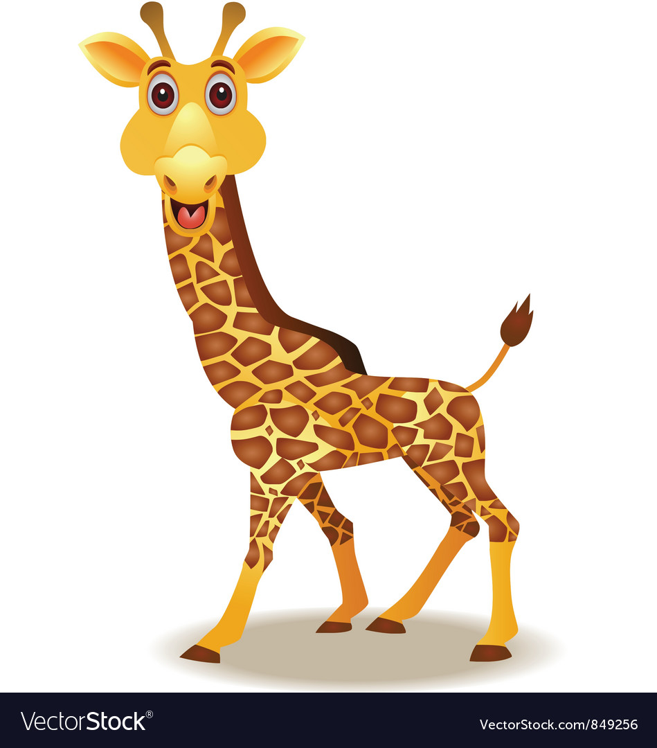 giraffe cartoon royalty free vector image vectorstock