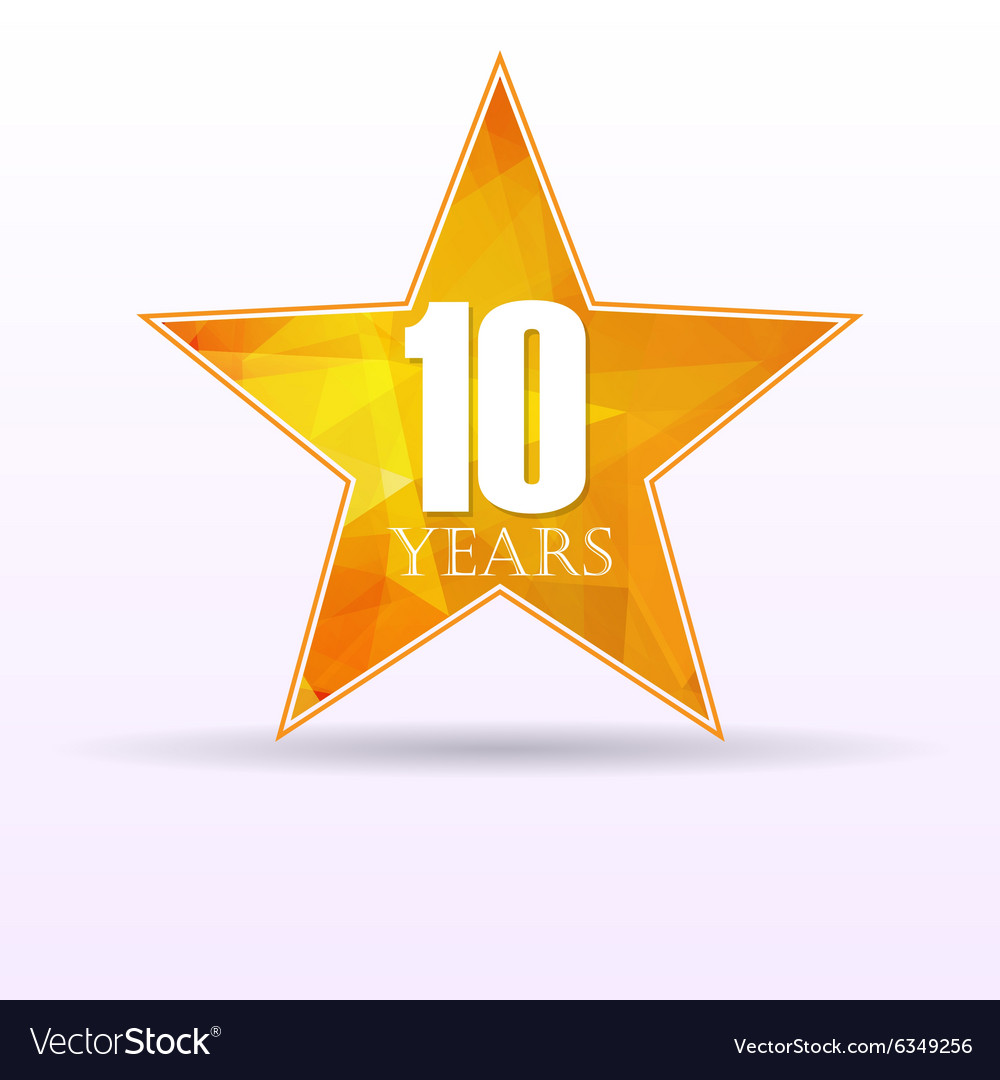 Star background anniversary 10 vector image