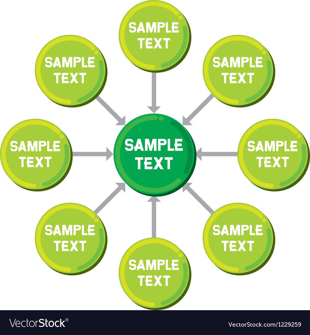 Presentation diagram Vector Image