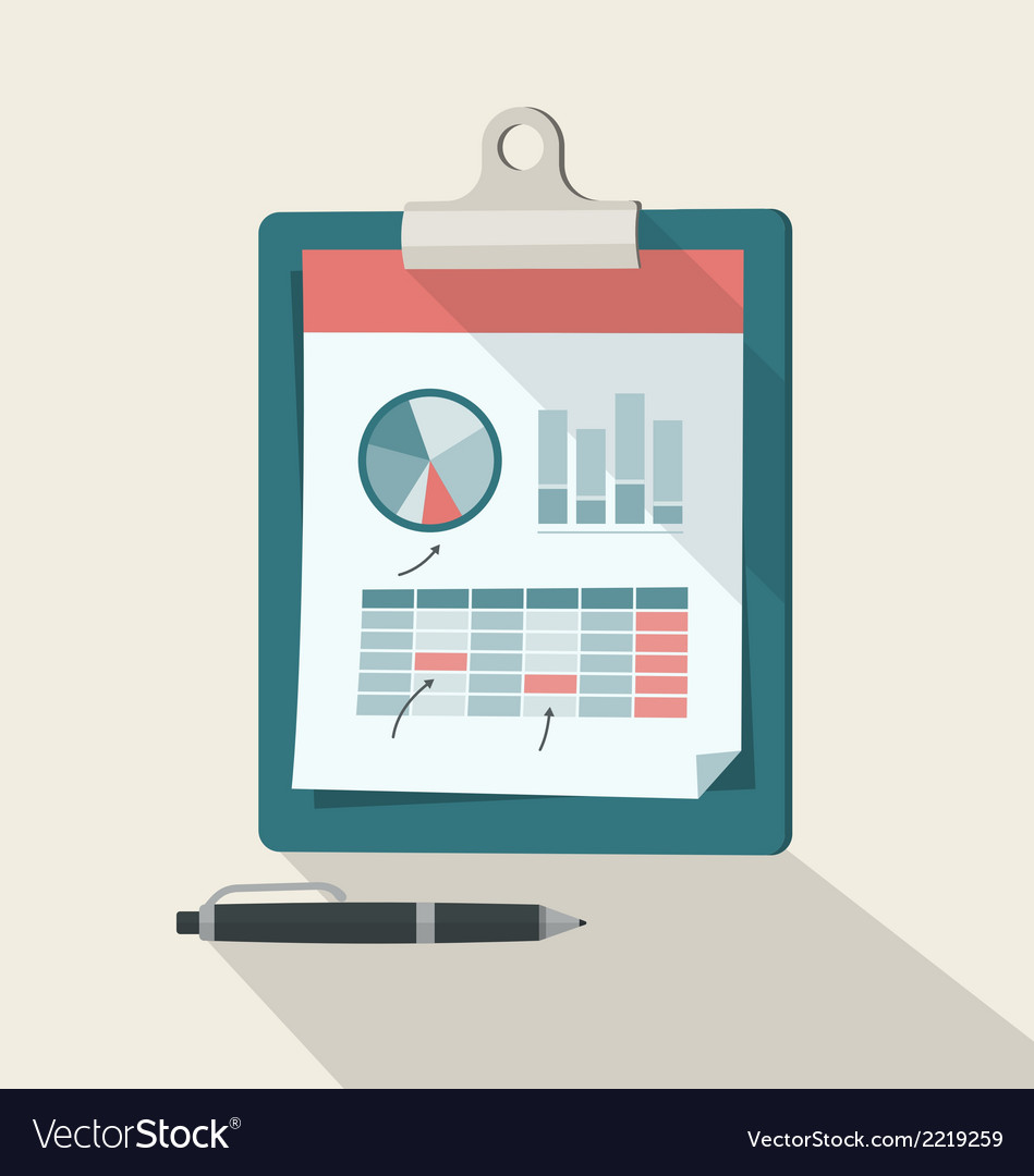 Clipboard With Financial Infographic vector image