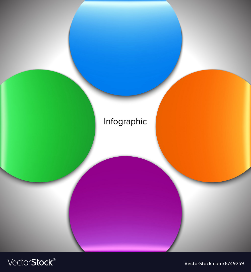 Four circle infographic vector image