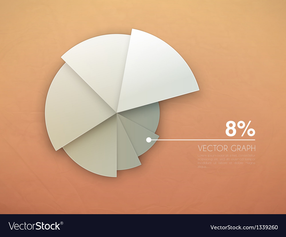 Graph diagram pie chart vector image