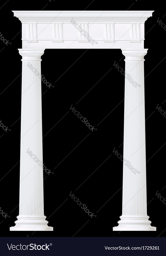 Classic style entrance vector image