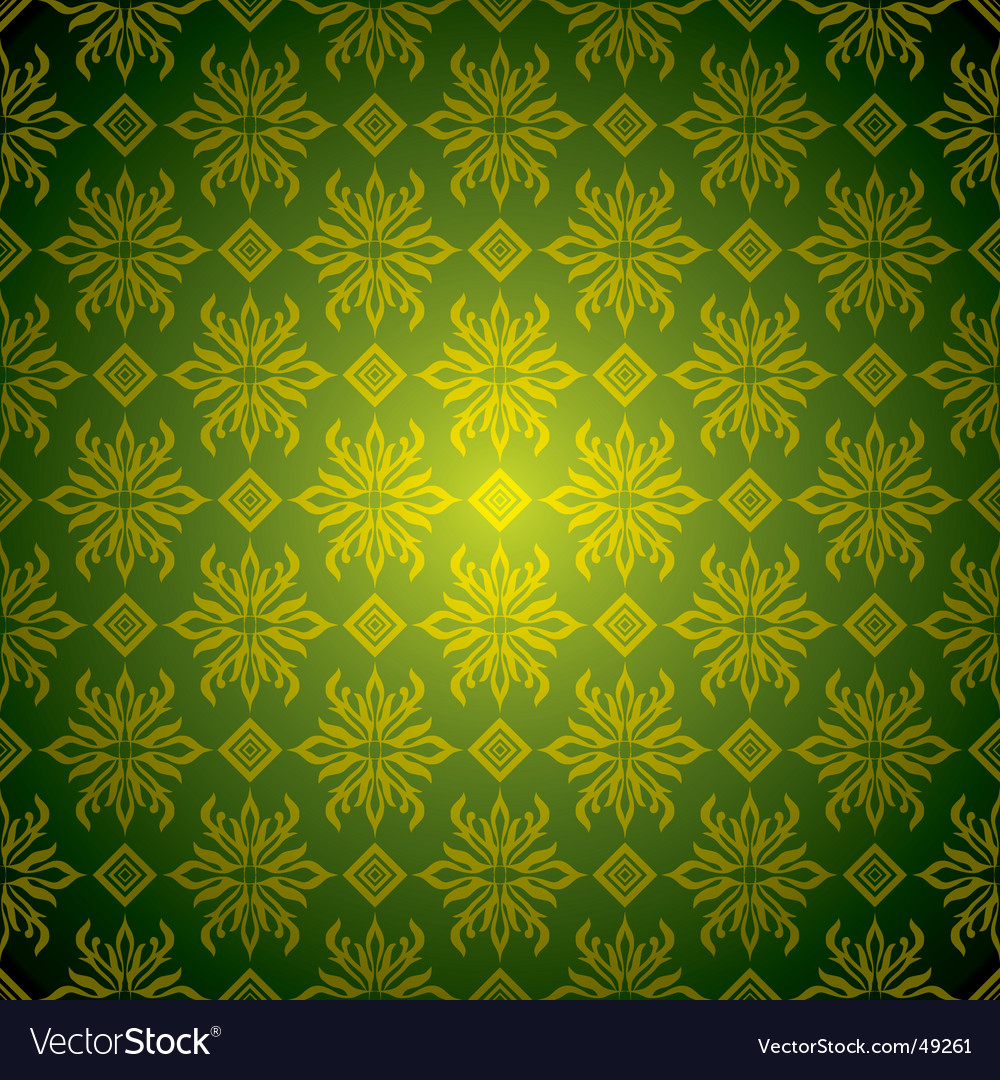 wallpaper tiled. Green Wallpaper Tile Gold