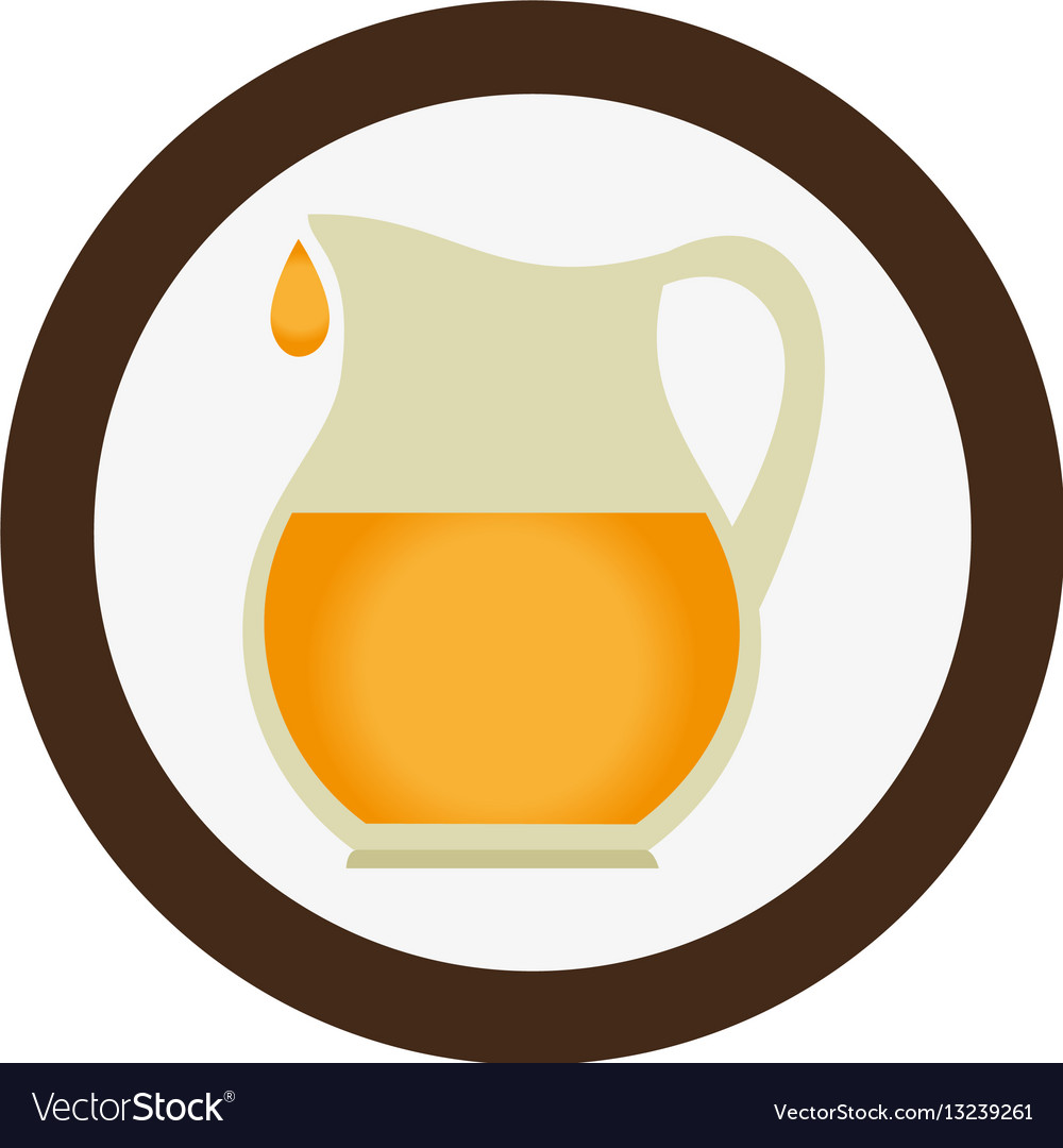 Juice jar isolated icon vector image
