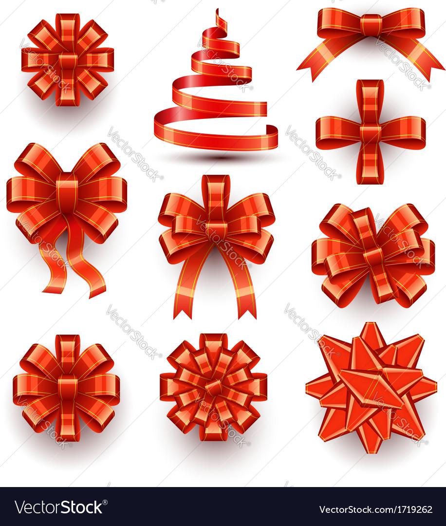 Bows - Ribbons vector image