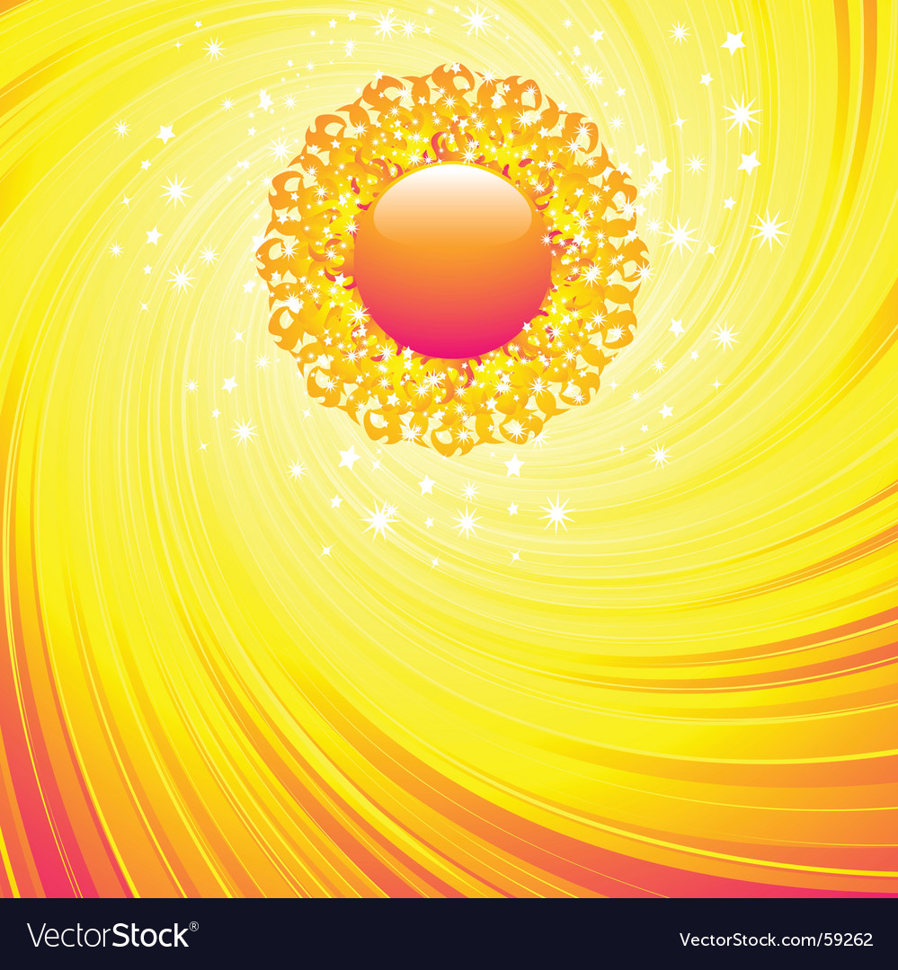 Summer sun and sky vector image