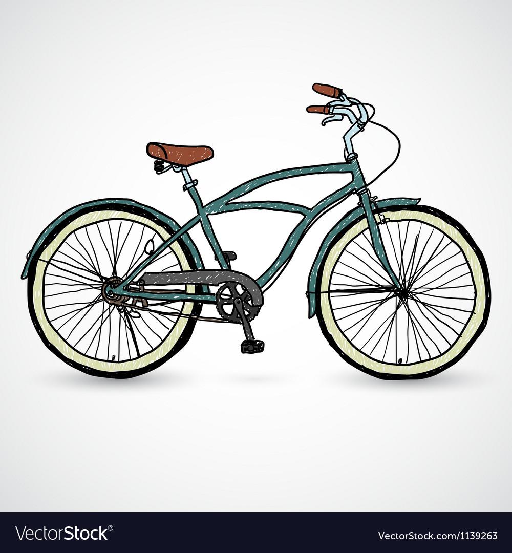 Vintage bicycle - vector image