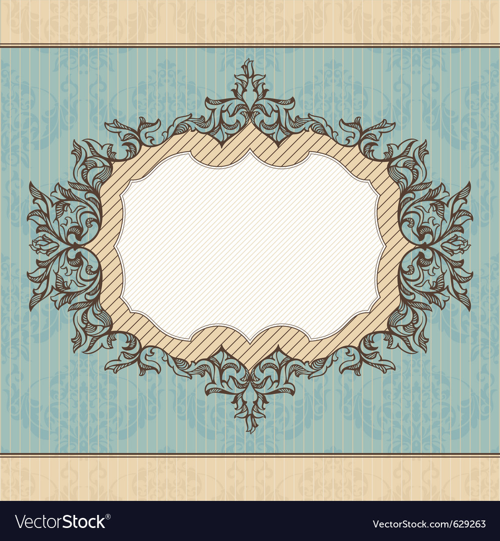 Abstract retro royal vintage frame vector image