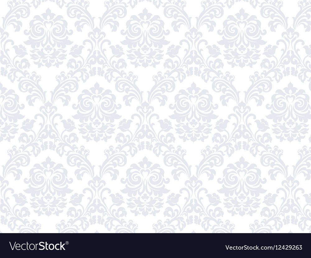 Floral ornament damask pattern vector image