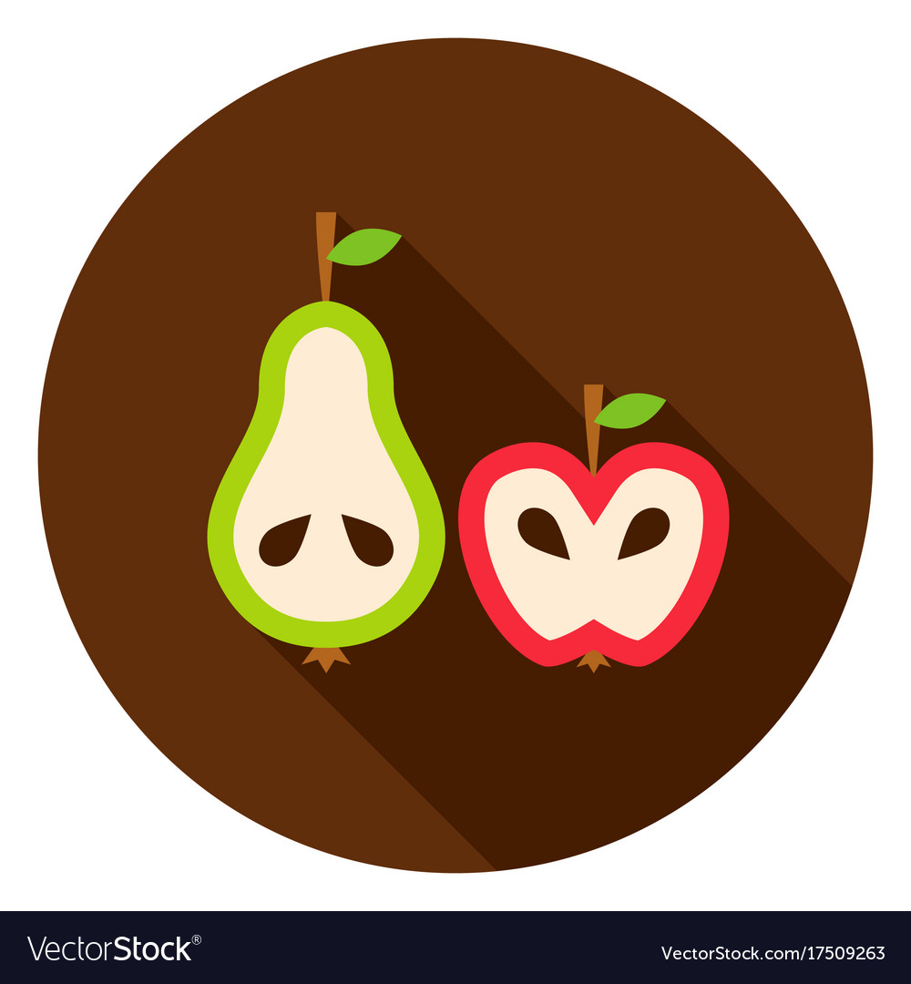 Pear apple circle icon vector image