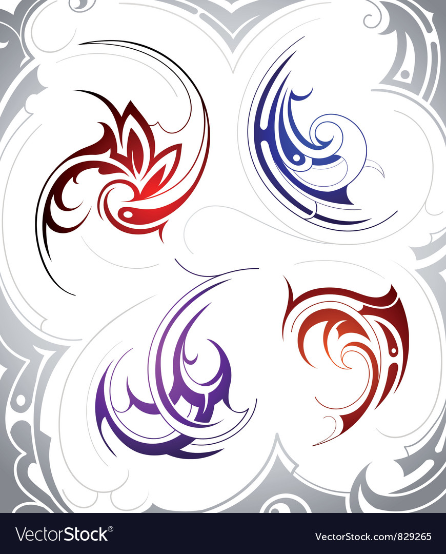 Tattoo Swirls vector image