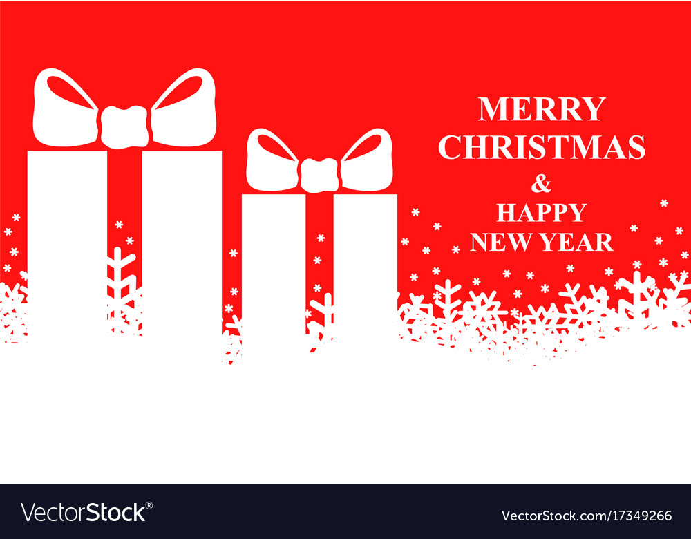 Christmas banner with snowflakes and presents vector image