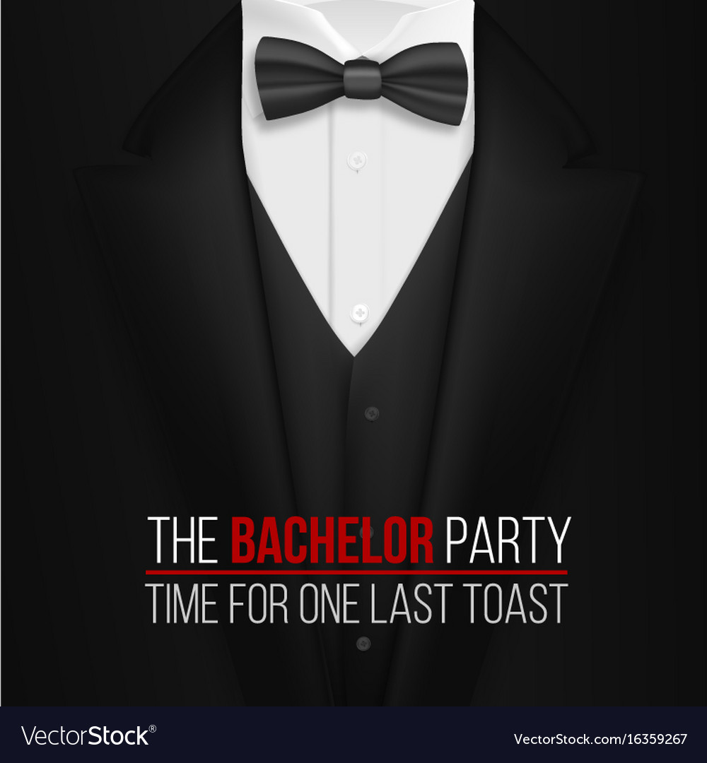 The bachelor party invitation template realistic Vector Image