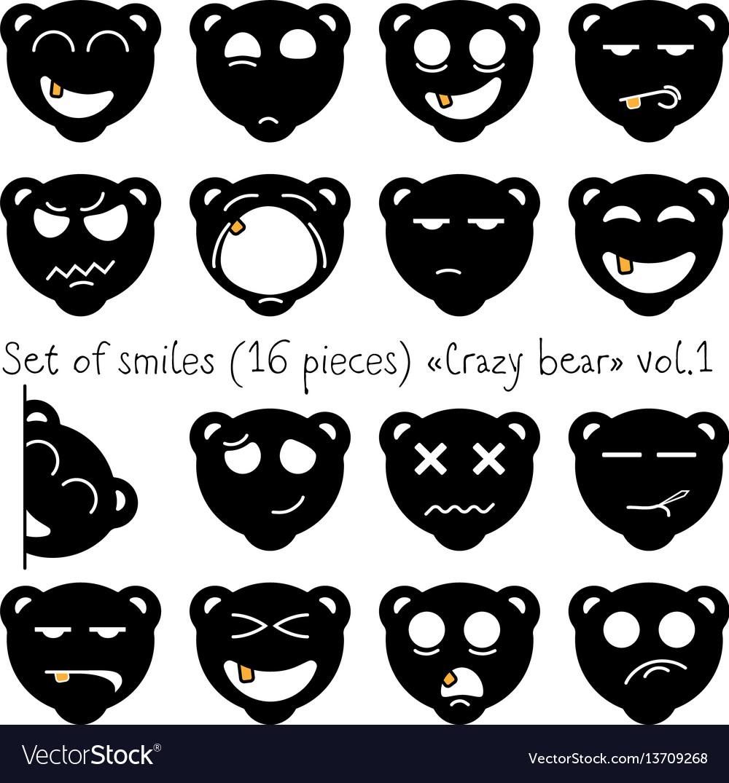 Crazy bear vector image