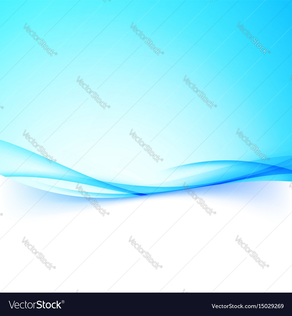 Abstract business blue swoosh wave border folder vector image