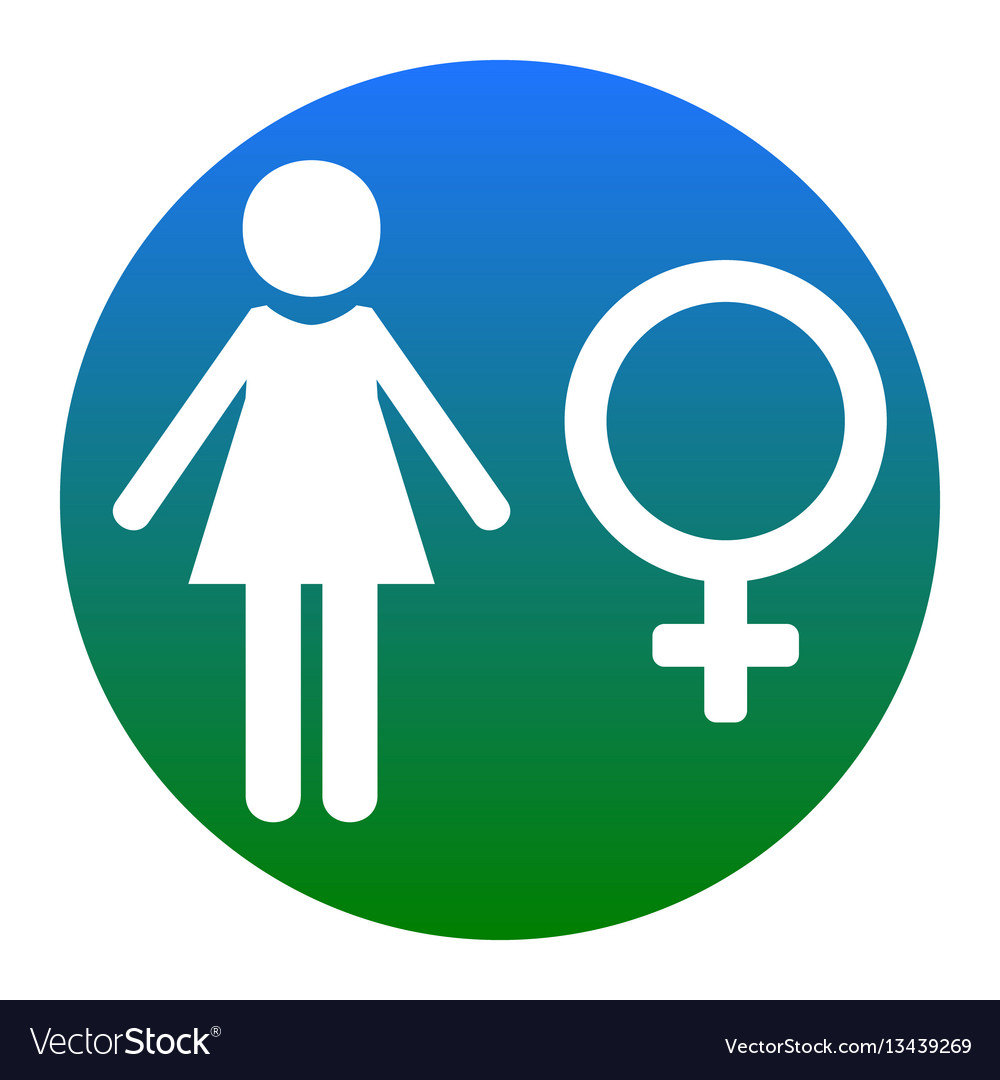 Female sign white icon in vector image