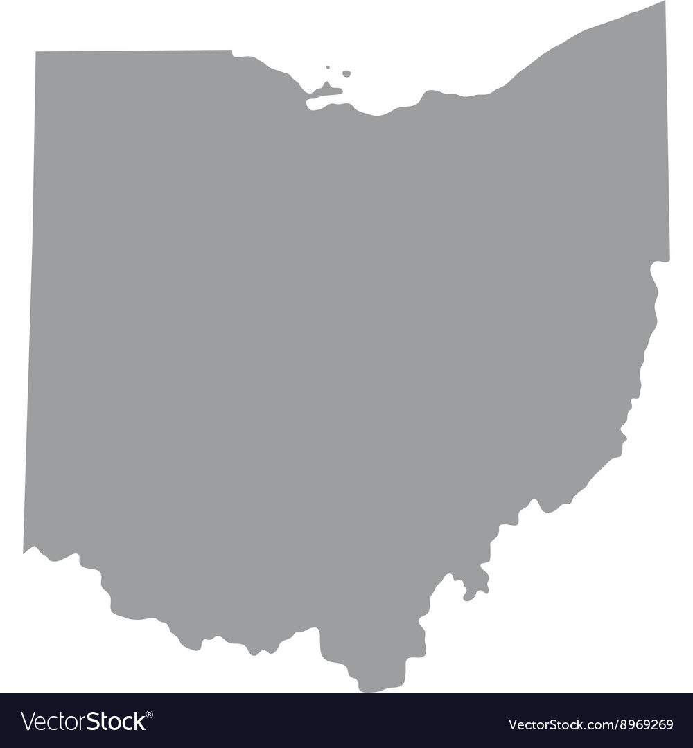 Map Of The US State Ohio Royalty Free Vector Image - Map of us vector
