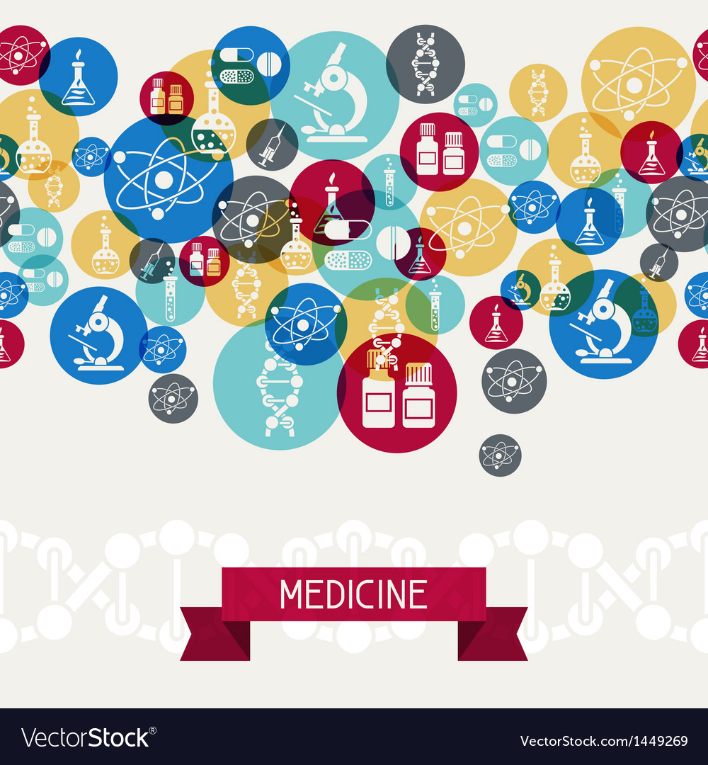Medical and health care background vector image