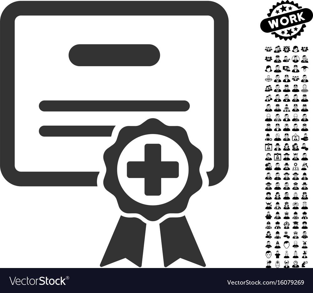 Medical certificate icon with men bonus royalty free vector medical certificate icon with men bonus vector image xflitez Gallery