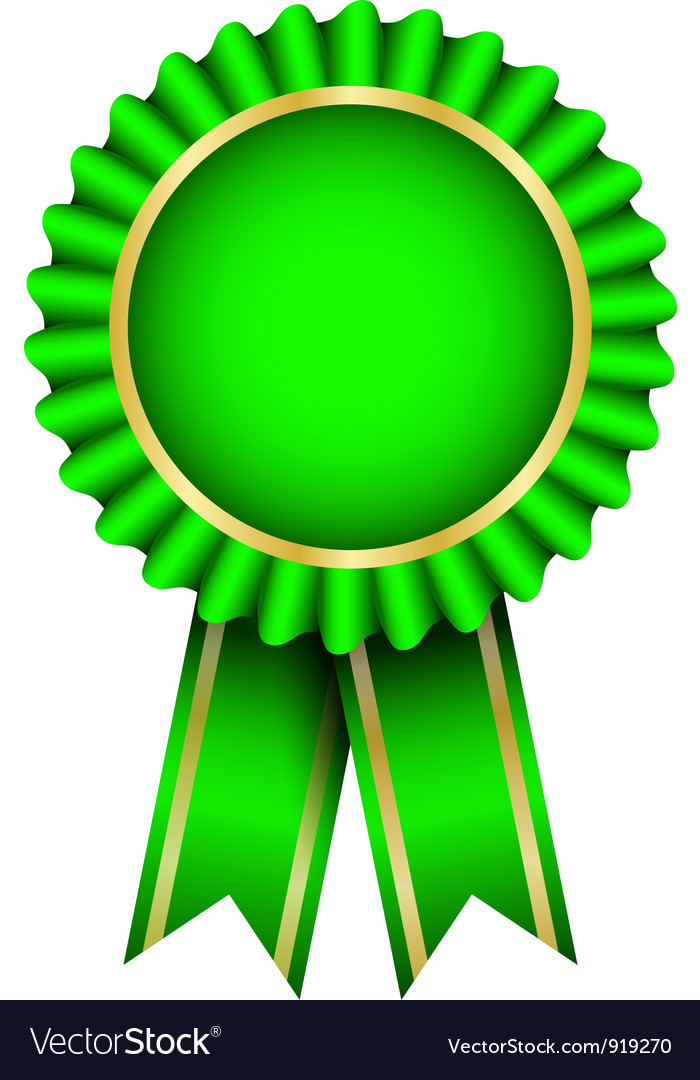 Green badge vector image