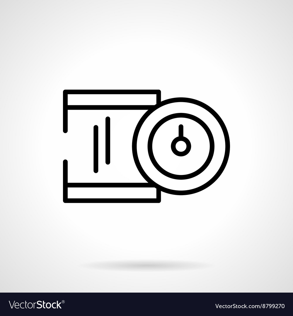 Precision device black line icon vector image