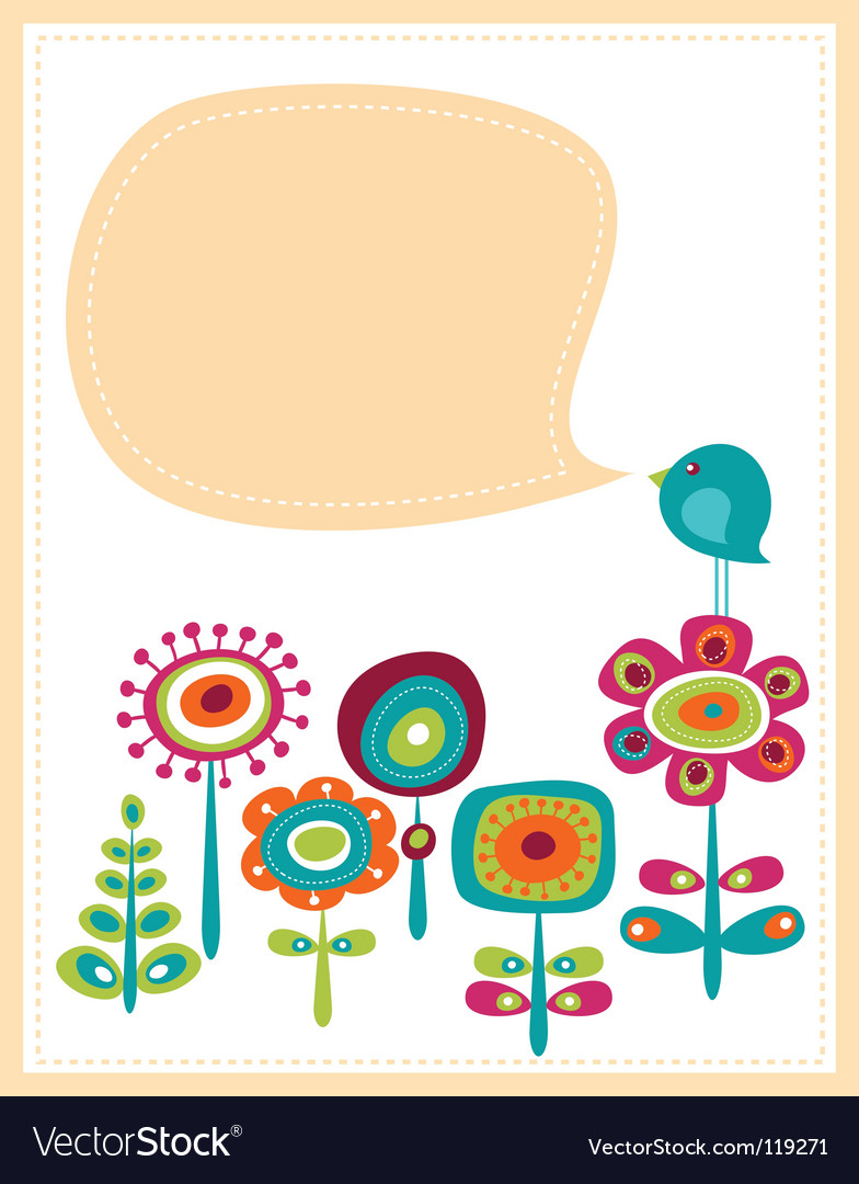 Retro card template Vector Image
