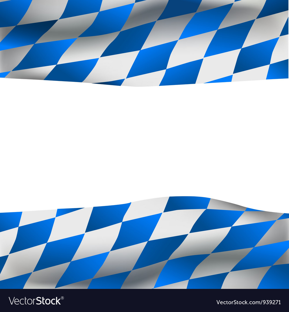 Background with Bavarian flag Vector Image