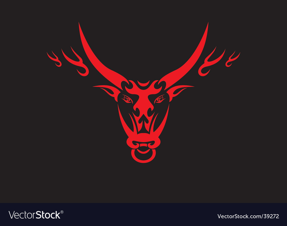 Chinese ox symbol vector image