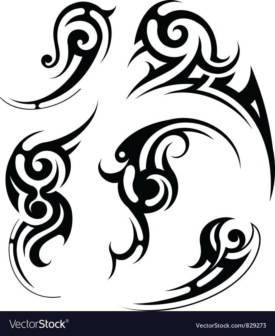 Swirl tattoo vector image