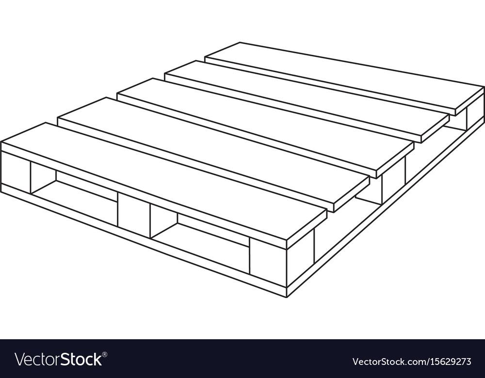 Wooden pallet vector image