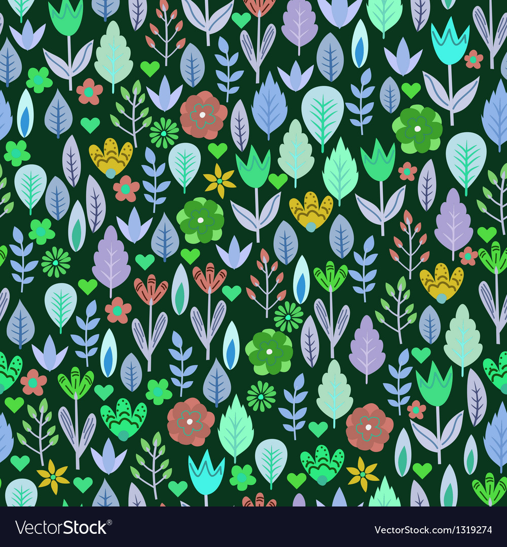 Retro doodle seamless pattern vector image