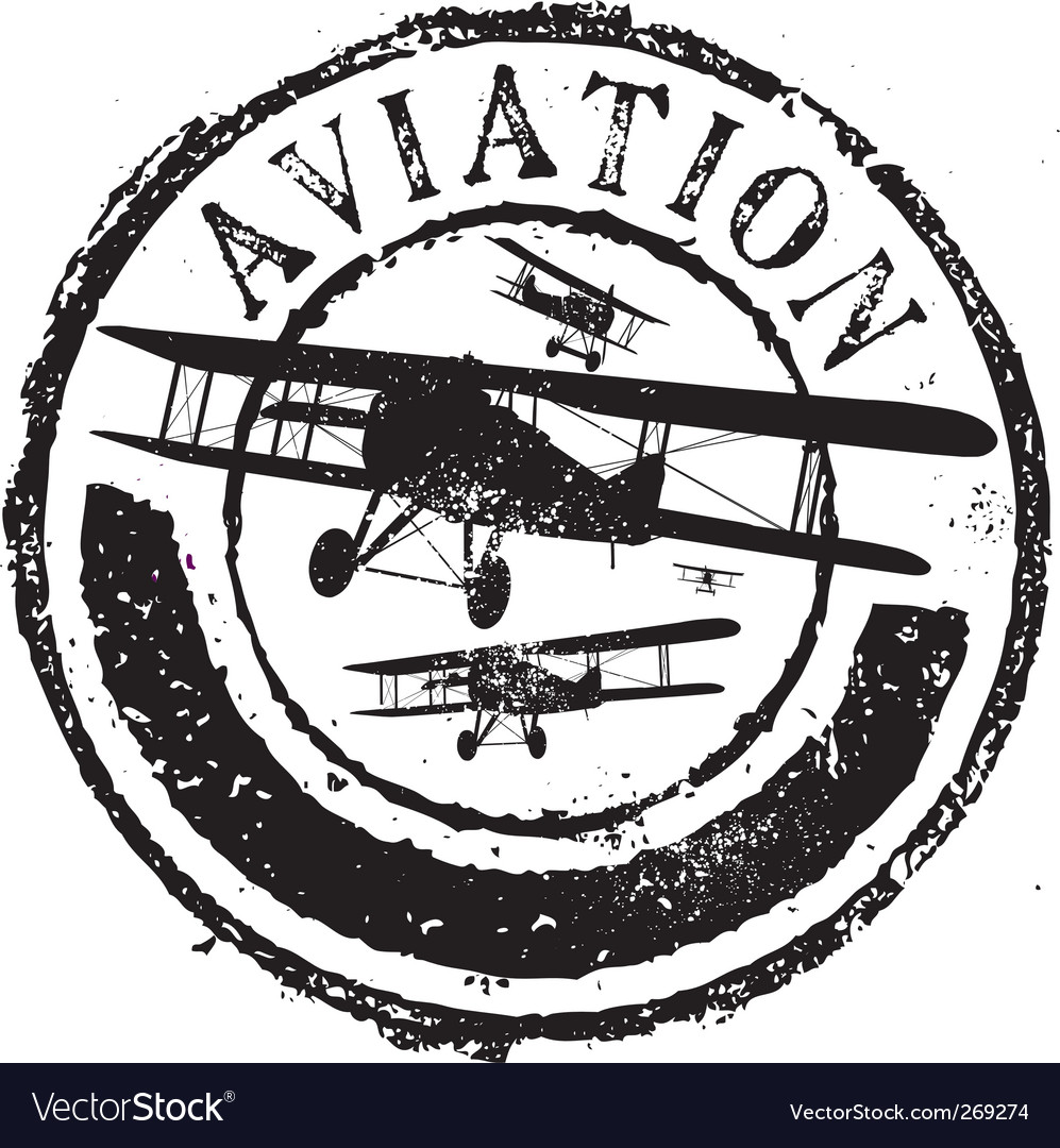 Aviation stamp vector image