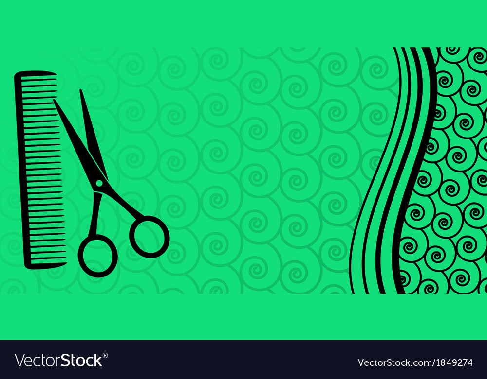Background for male hair salon vector image