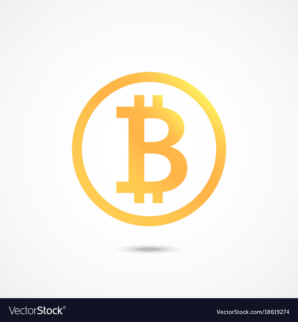 Bitcoin Sign Icon Crypto Currency Symbol Vector Image