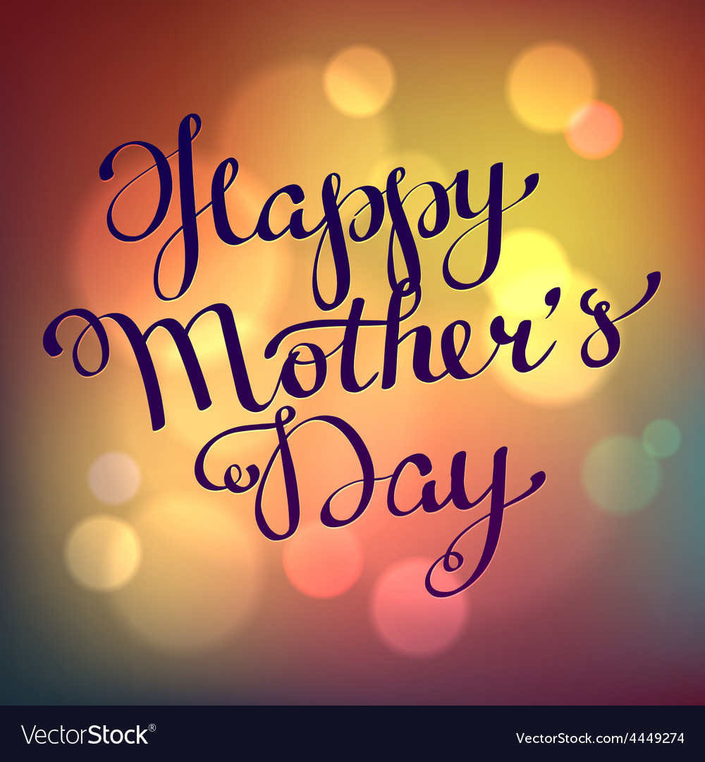 Happy mothers day hand-drawn calligraphy vector image