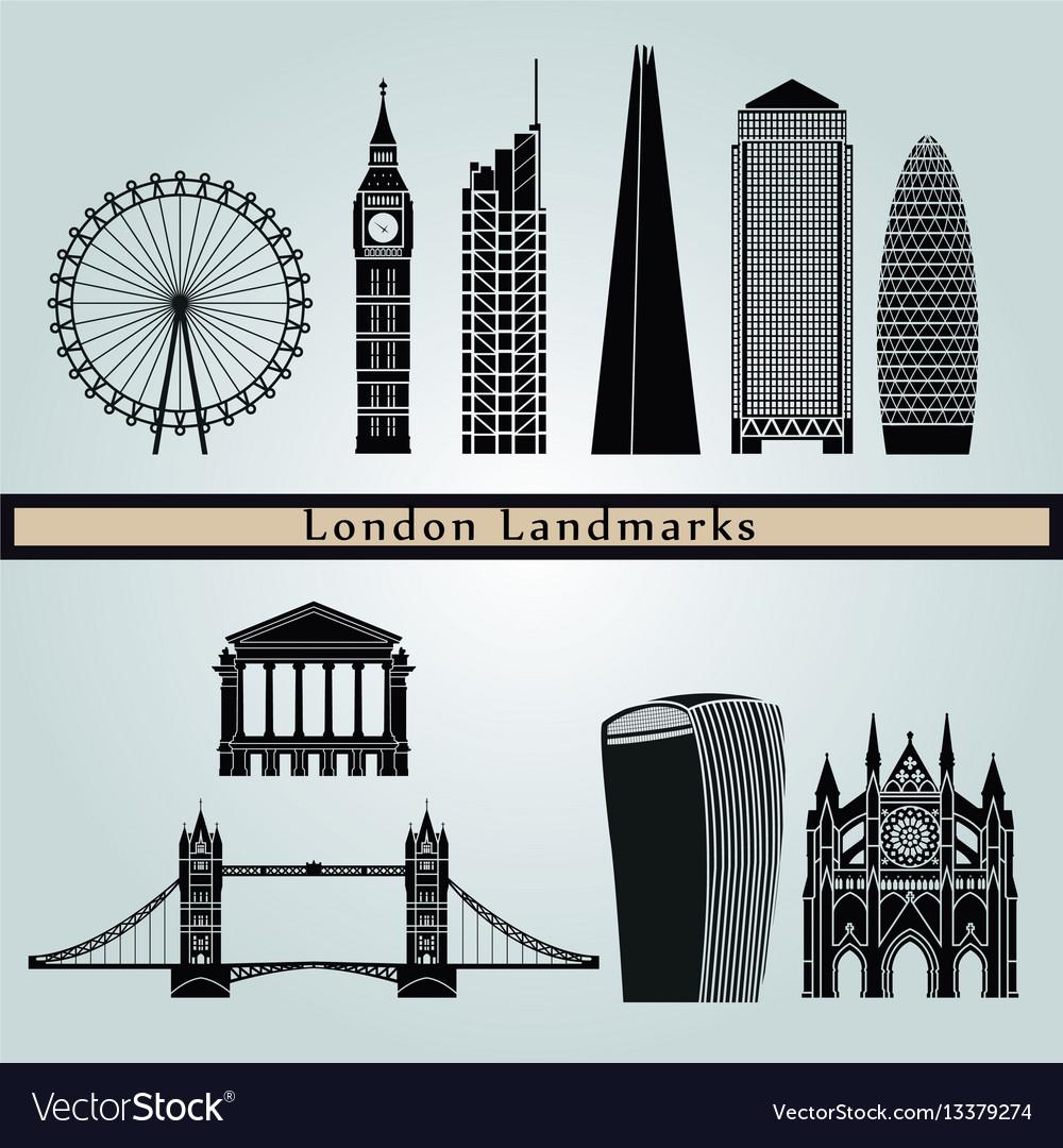 London v2 landmarks vector image