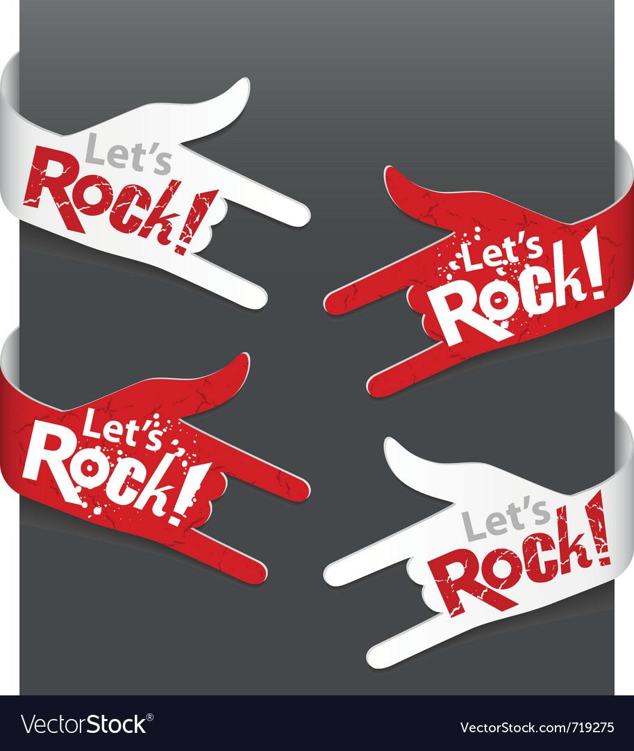 Lets rock vector image