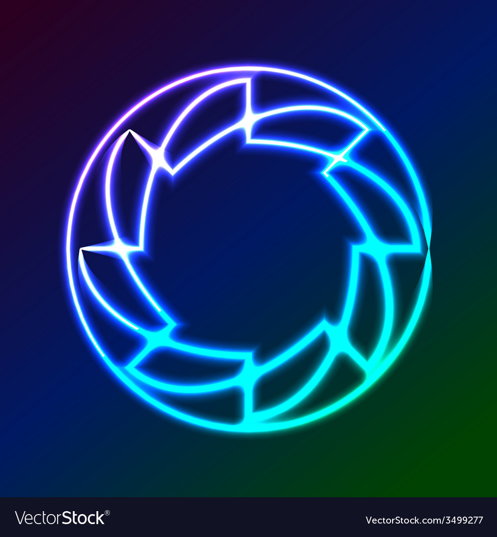 Colorful Glowing Rings - eps10 abstract background vector image